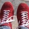 赤の皮のスニーカー欲しかったなぁ
